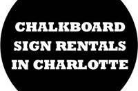 Chalkboard Sign Rentals in Charlotte NC