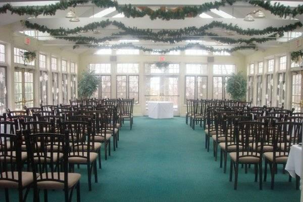 Ceremony inside the facility