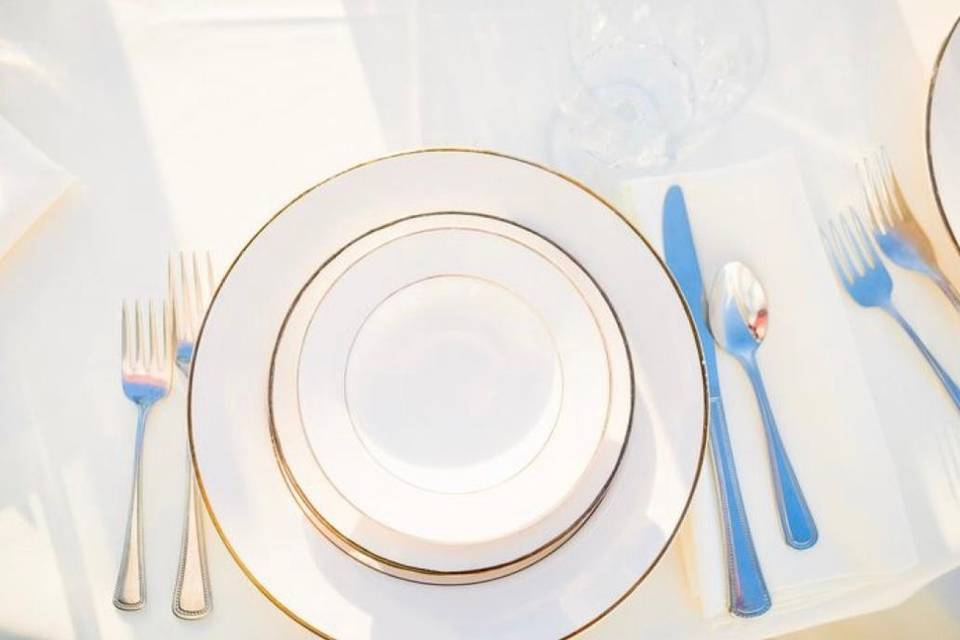 Ivory and Gold Plates