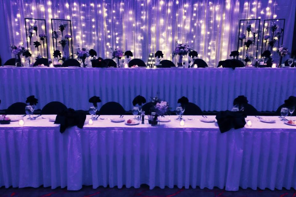 Two-Tiered Head Table