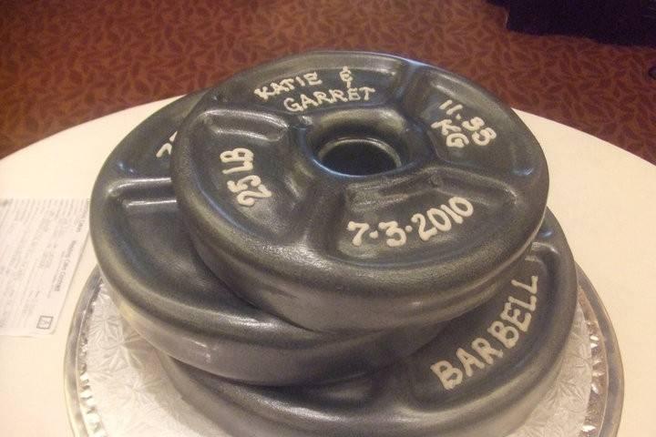 Barbel inspired cake