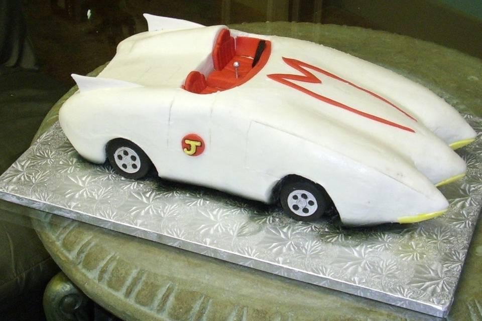 Car inspired cake