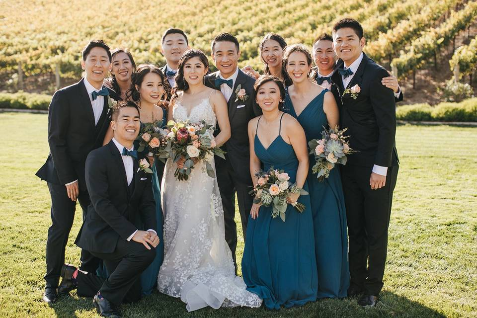 Bridal party   colorful