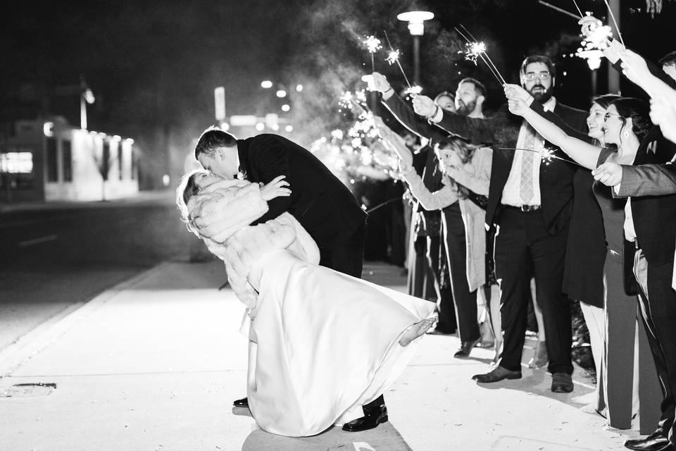 Wedding sparklers   AL Wedding Photography
