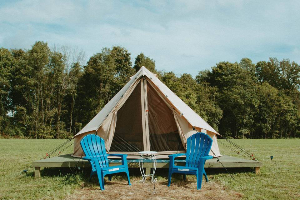 Front View of Glamping Tent