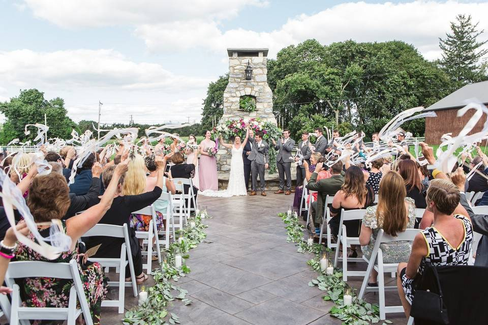 Ceremony outside