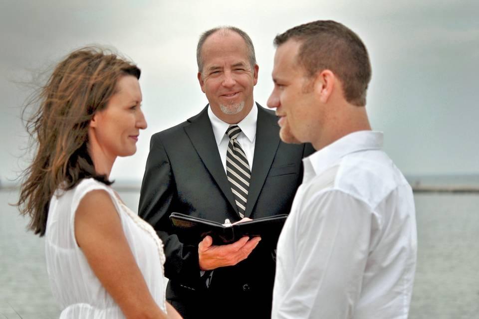 Officiating a wedding