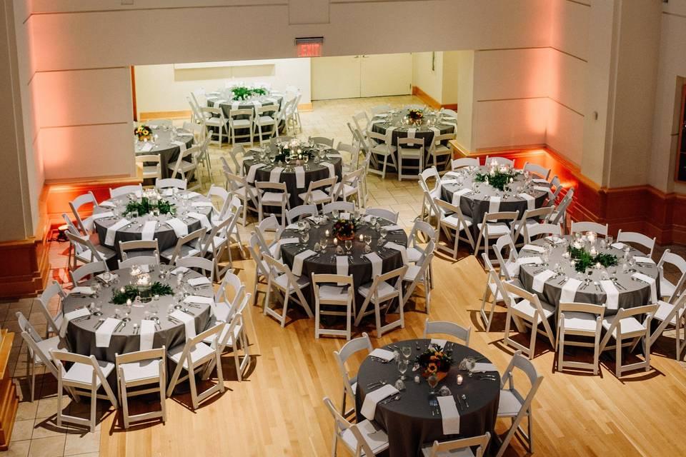 Reception set for 130