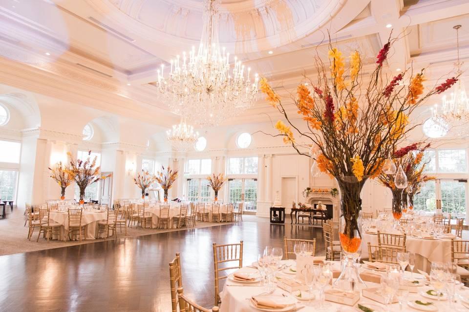Fall inspired ballroom