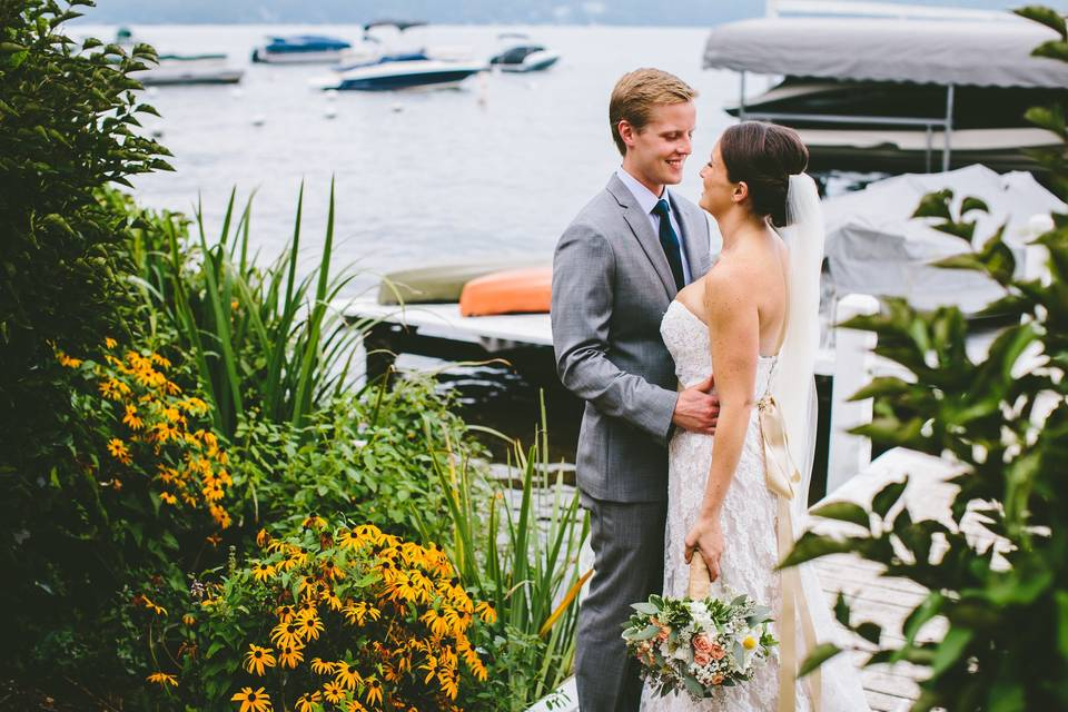 Couple by the Yacht Club