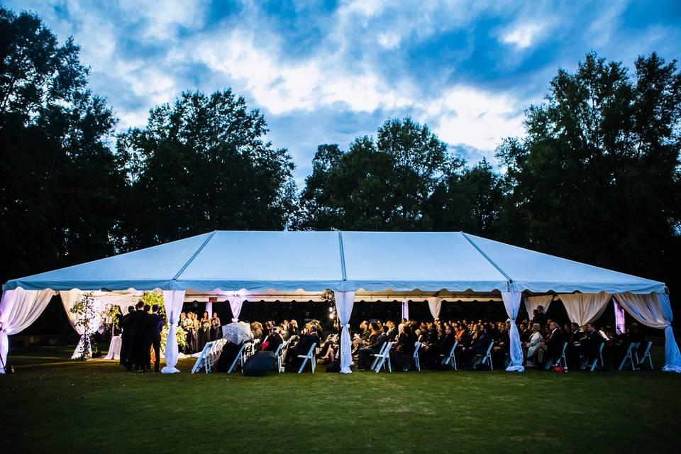 Tented outdoor Ceremony