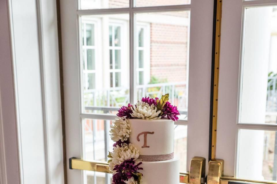 Four-tier wedding cakes