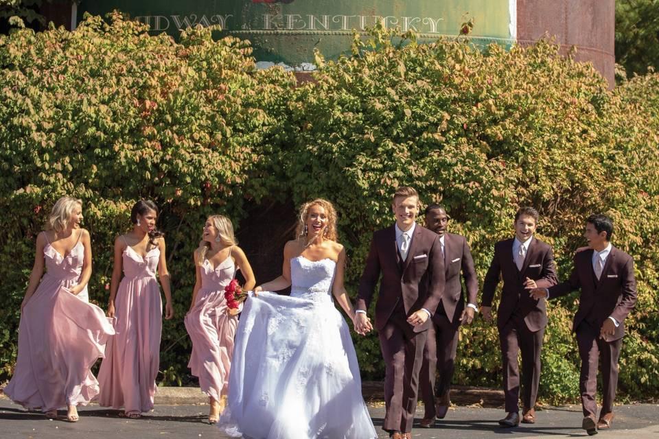 Burgundy Wedding Suit Ike