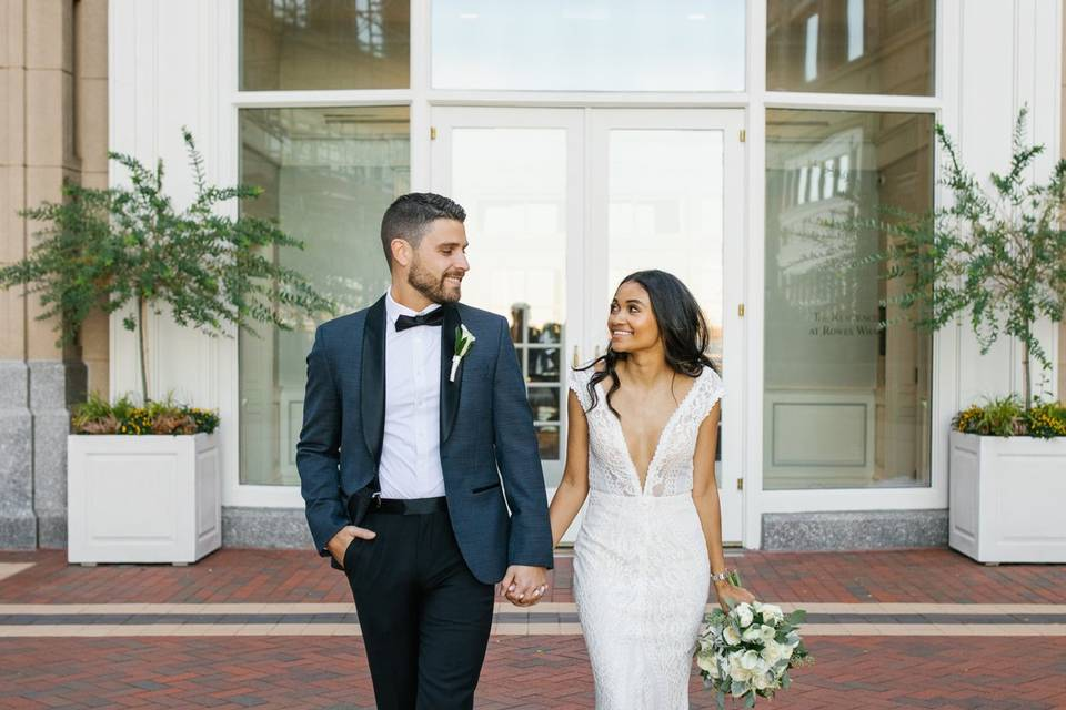 Bride and Groom in Boston