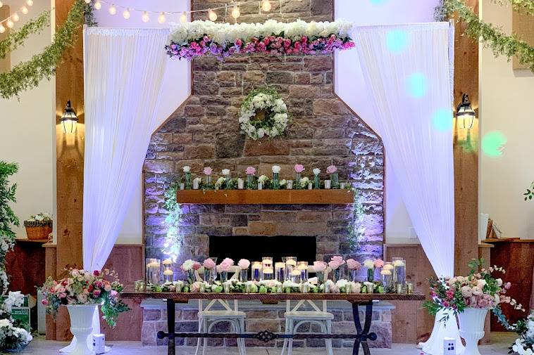 Centerpieces Candle Fireplace