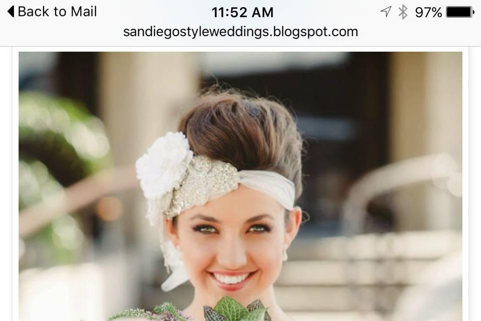 Nancy Vestal Bridal Hair