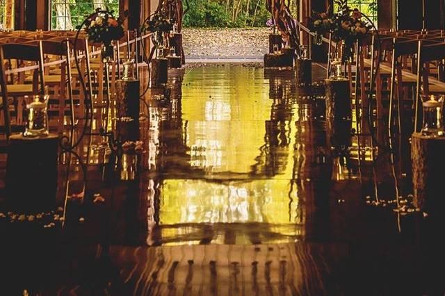 The indoor ceremony spot
