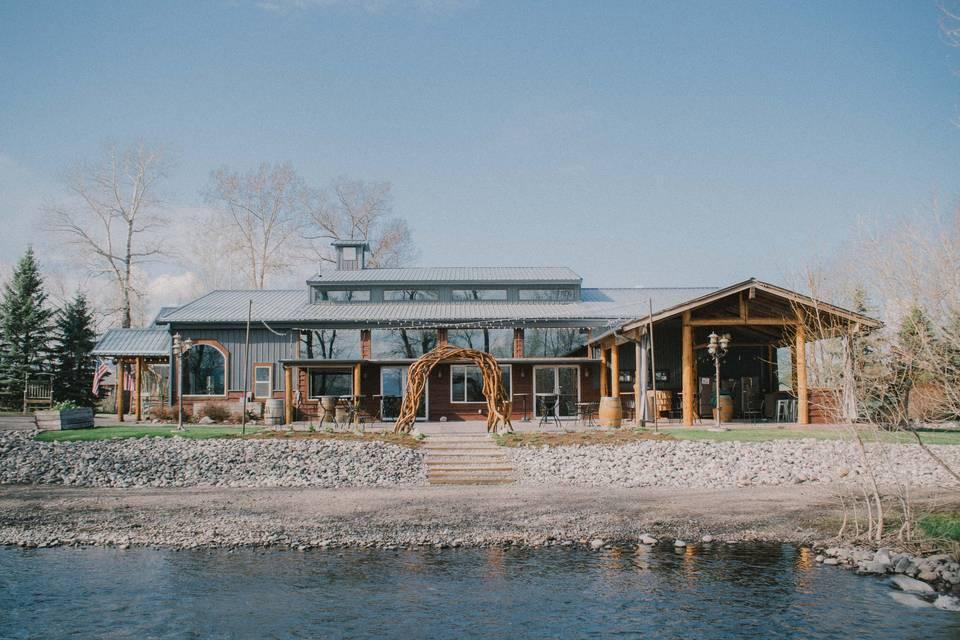 The creekside venue