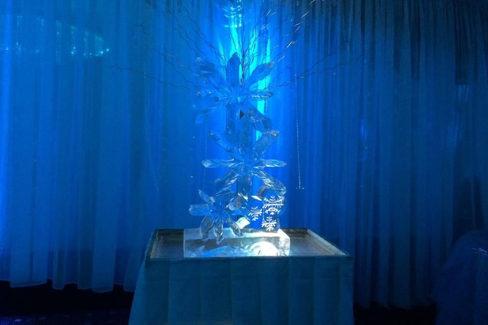 Blue crystal lighting