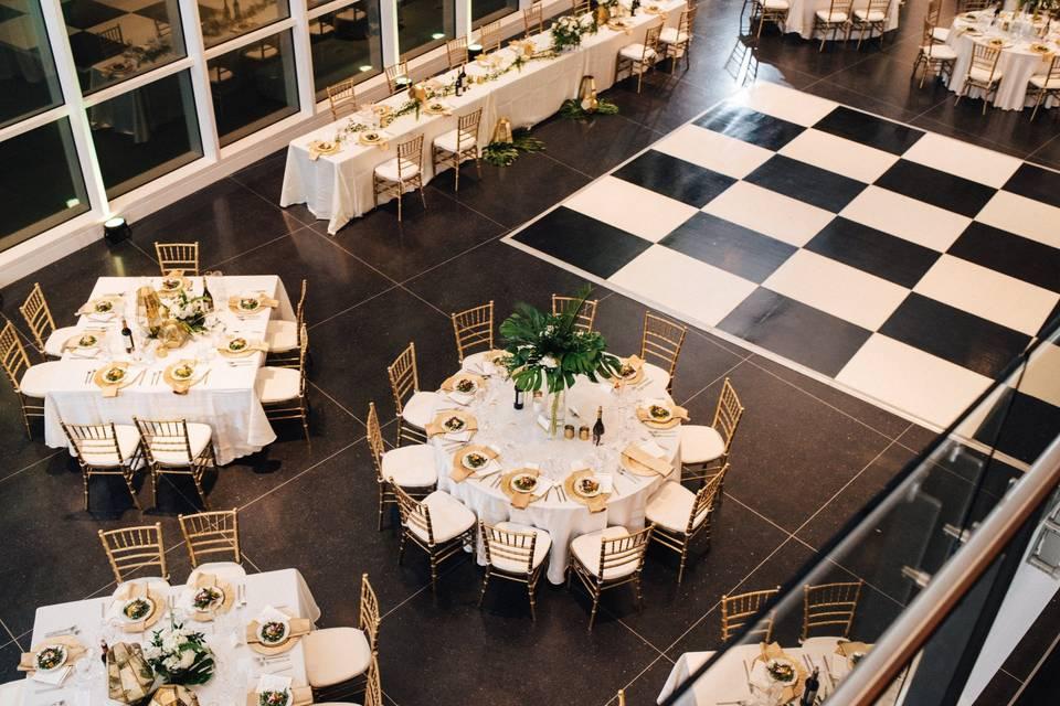 Reception with dance floor