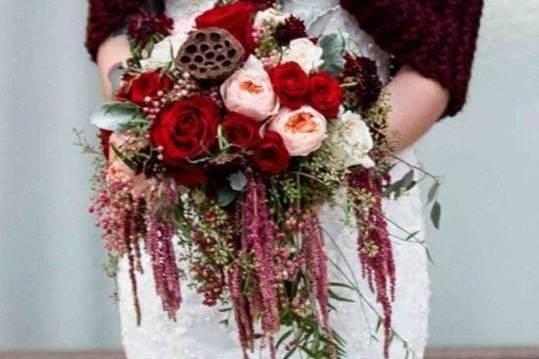 Cascading flower bouquet