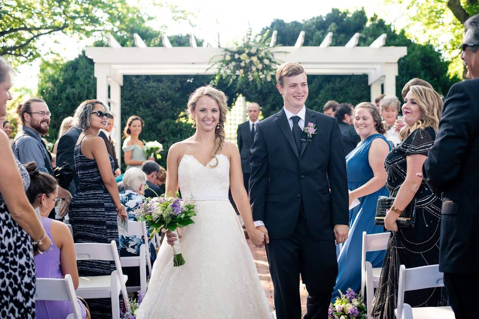 Ceremony in The Boxwood Garden - Brooke Danielle Photography