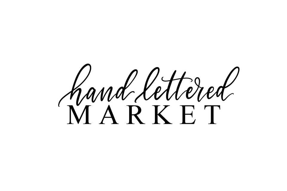 Hand Lettered Market
