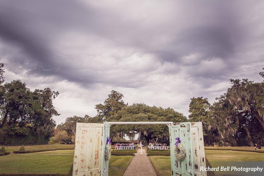 Entrance to the wedding venue