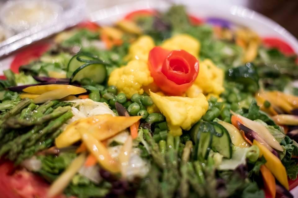 Vibrant vegetable salad