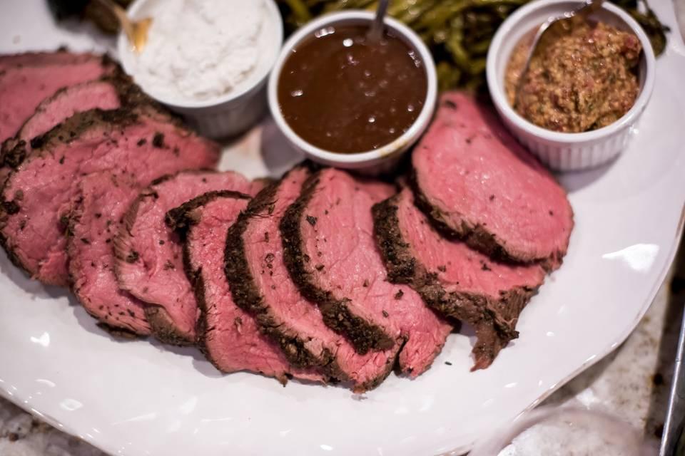 Succulent roast beef