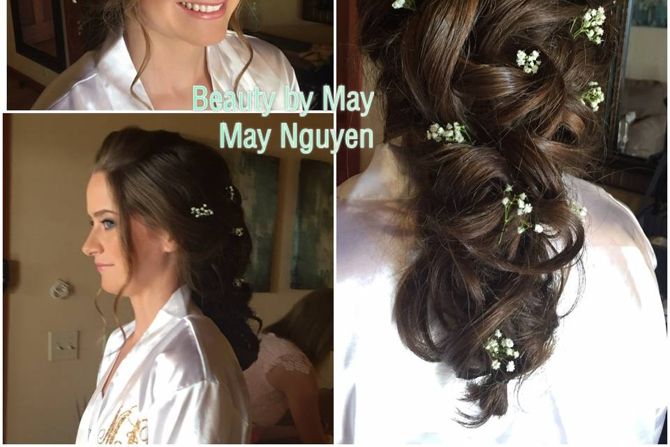 Wedding hair with accessories