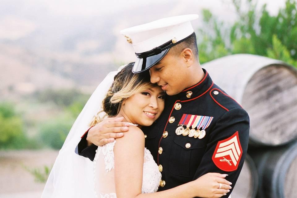 Miltary wedding photography