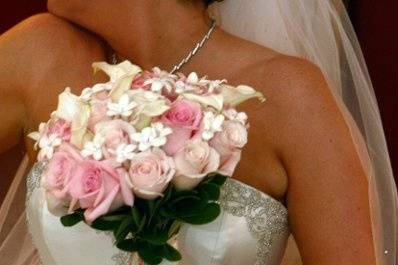 Bride holding lovely bouquet