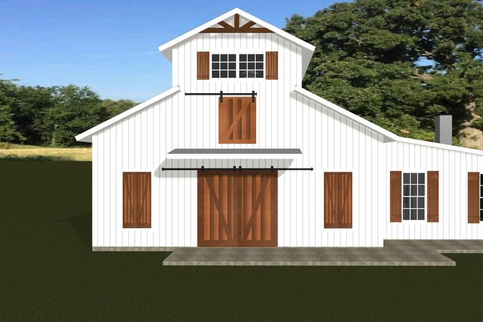 Venue Barn Front Elevation
