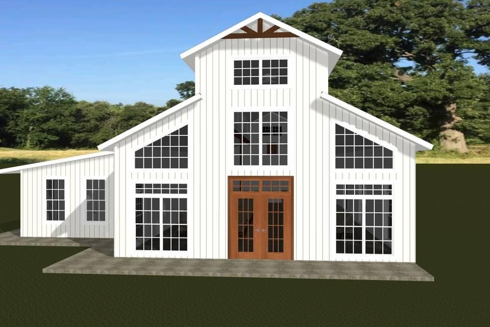 Venue Barn Rear Elevation