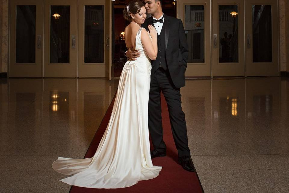 Couple photo in the lobby
