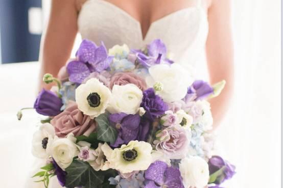 White and lavender tone
