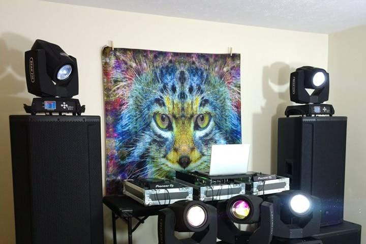 DJ event setup