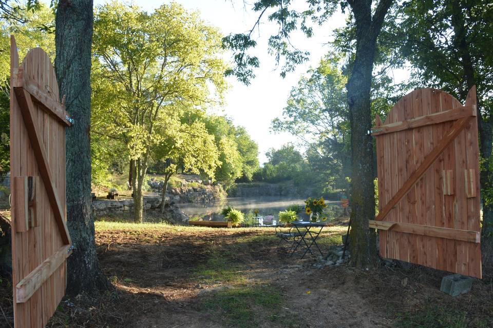 Water wedding site gates