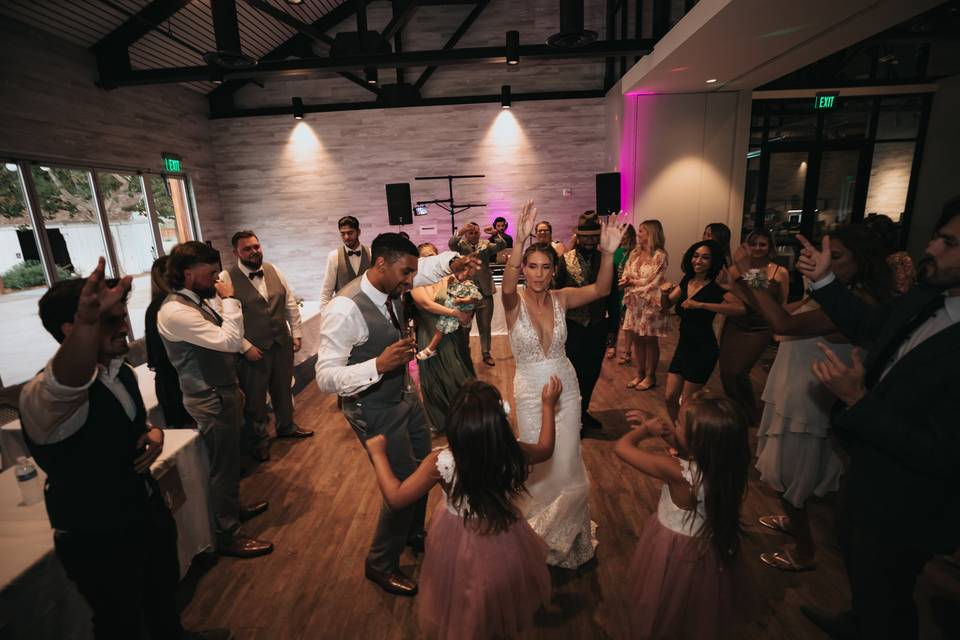 Newlyweds are party animals