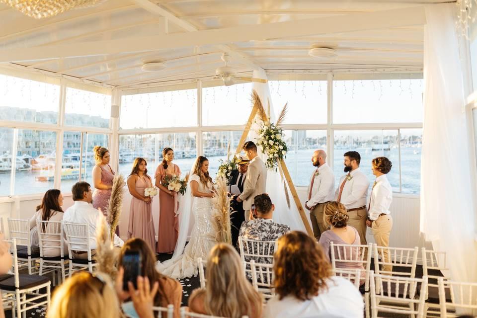 Stunning venue on a yacht