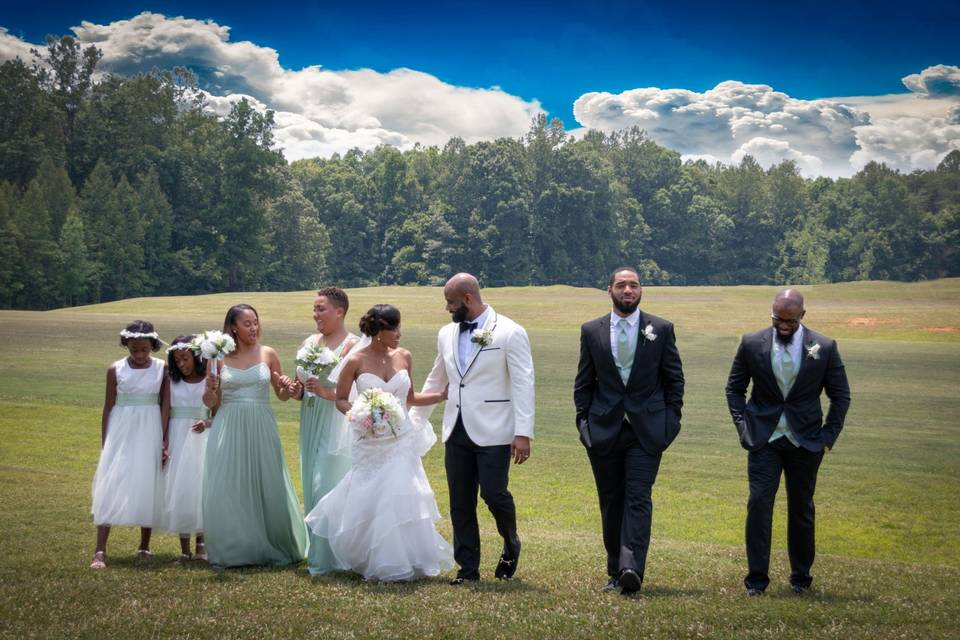 The wedding party - Cooper's Photography