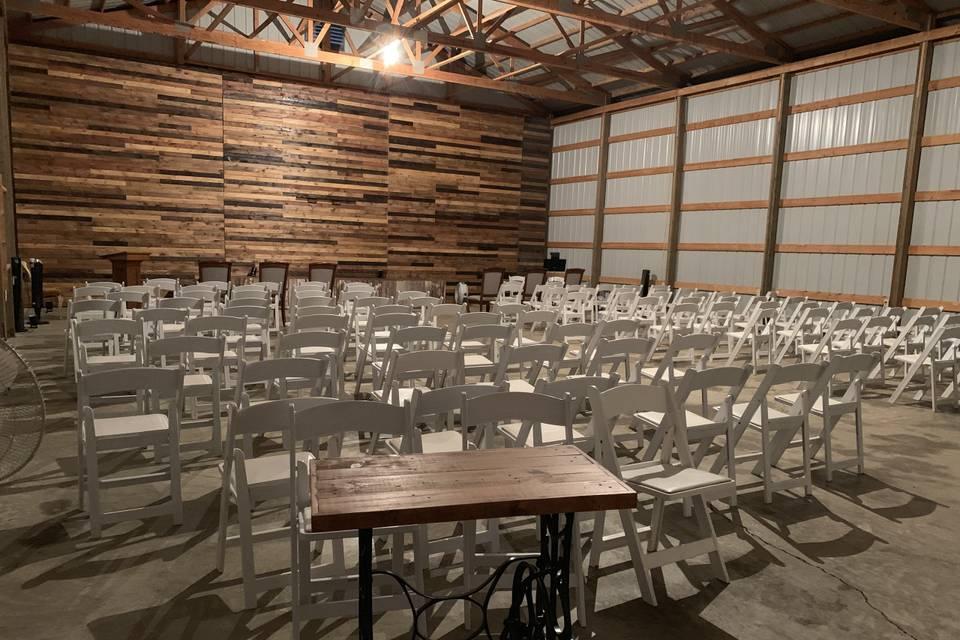 Back shed interior