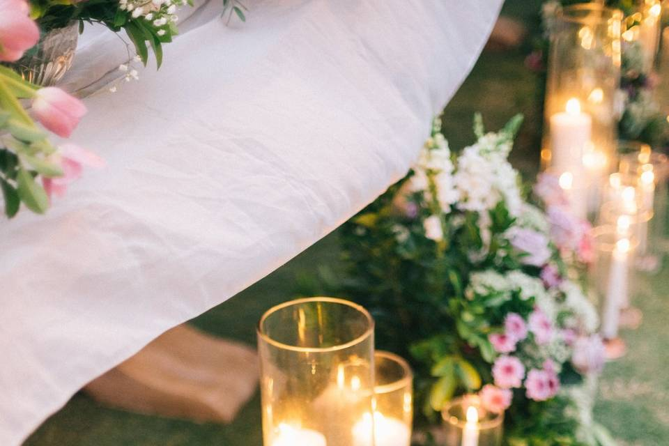 Candle aisle runners