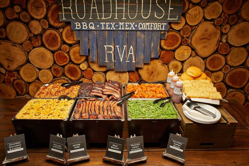 A buffet spread