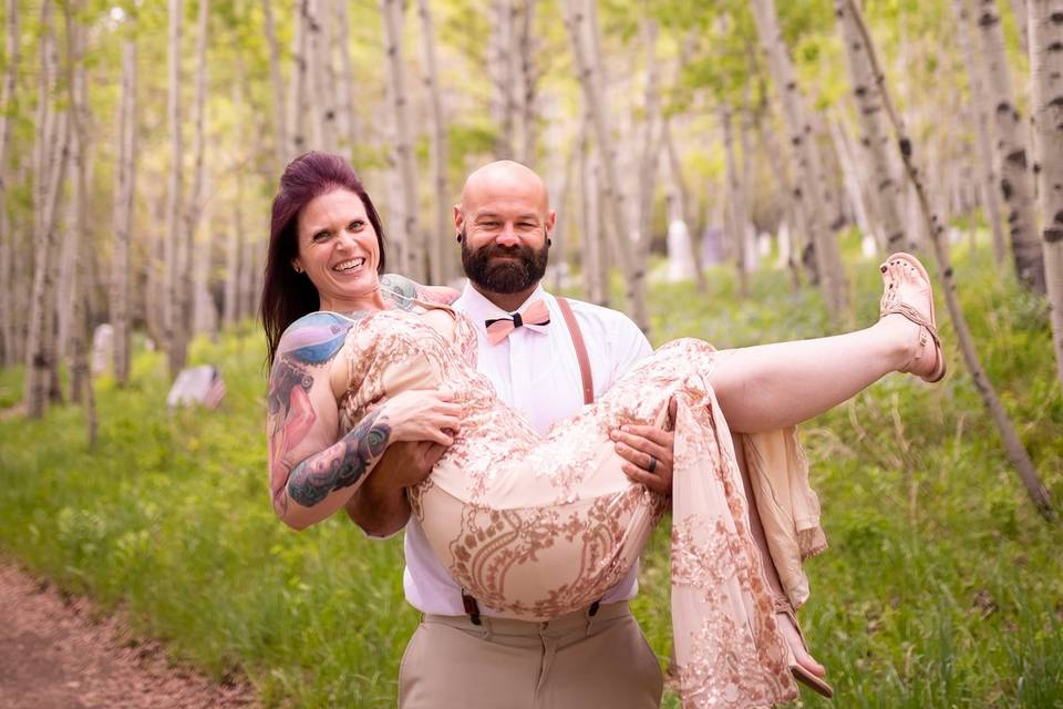 Married in Park City cemetery