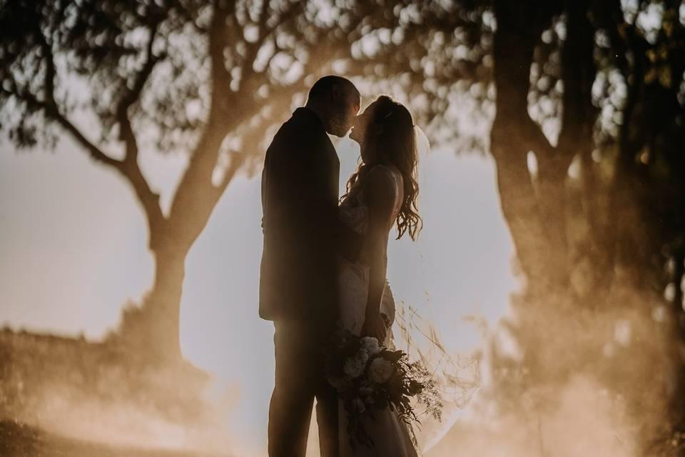 Santa Cruz Wedding sunset