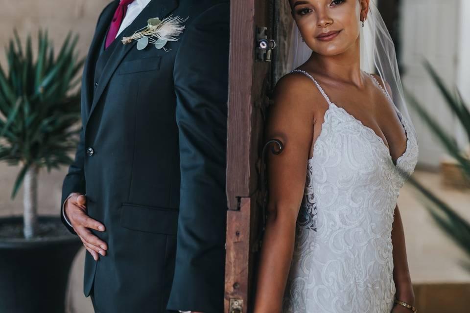 Intimate wedding at Casa V