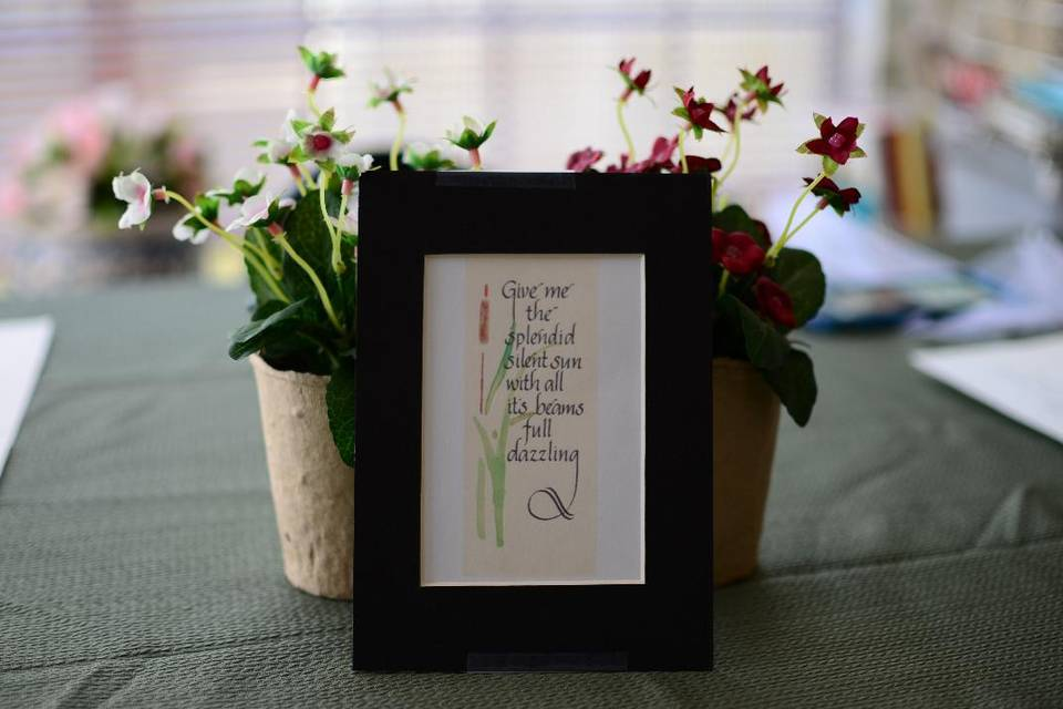 Calligraphy by Sherry