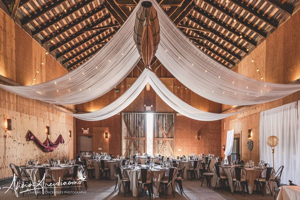 Interior of Event Barn